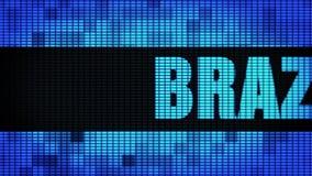 Brasilien Front Text Scrolling LEDDE brädet för tecknet för väggpanelskärm vektor illustrationer