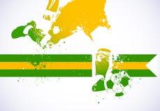 Brasilien-Fußball lizenzfreie abbildung