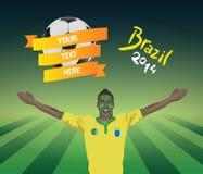 Brasilien-Fußballfan Lizenzfreies Stockfoto