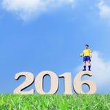 Brasilien-Fußballspielermann Lizenzfreie Stockfotos