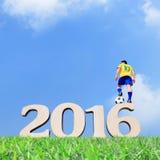 Brasilien-Fußballspielermann Stockbilder