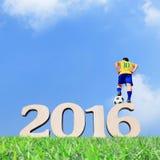 Brasilien-Fußballspielermann Lizenzfreie Stockbilder