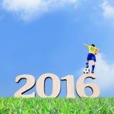 Brasilien-Fußballspielermann Lizenzfreies Stockfoto