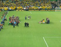 Brasilien gegen Spanien - Konföderationen-Pokal 2013 Lizenzfreies Stockbild