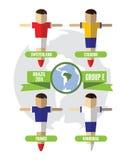 Brasilien 2014 grupp E Arkivbild