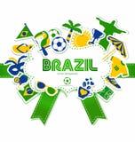 Brasilien-Ikonensatz Stockfoto