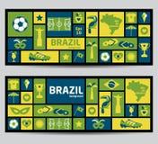 Brasilien-Ikonensatz Lizenzfreie Stockfotografie