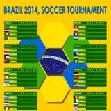 Brasilien informationsdiagram 2014 Royaltyfri Bild