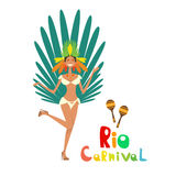 Brasilien karneval färgrika Rio Holiday Party Celebration Royaltyfri Bild