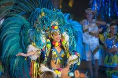 Brasilien-Karnevalsfrautänzer Stockfoto