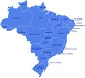 Brasilien-Karte Lizenzfreie Stockbilder
