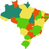 Brasilien-Karte Stockfotografie