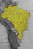 Brasilien-Karte Lizenzfreies Stockfoto