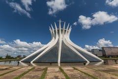 Brasilien-Kathedrale - Brasília - DF - Brasilien lizenzfreie stockfotos