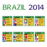 Brasilien kopp 2014, fotbollturnering. royaltyfri illustrationer
