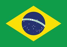 Brasilien landsvektor Österrike royaltyfri illustrationer
