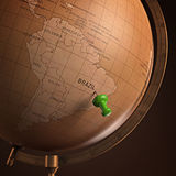 Brasilien markerade Arkivbild