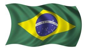 Brasilien-Markierungsfahne Lizenzfreie Stockbilder