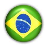 Brasilien-Markierungsfahne Stockbild