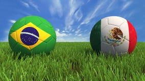 Brasilien Mexico Royaltyfri Fotografi