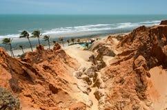 ¡ Brasilien Morro Branco Cearà Lizenzfreie Stockbilder
