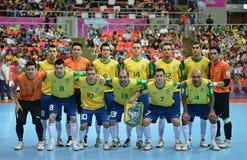 Brasilien nationellt futsal lag Royaltyfri Foto