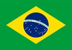 Brasilien, nationsflagga och flagga, illustration Royaltyfria Bilder