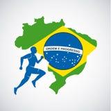Brasilien och den olympiska sportar isolerade symbolen planlägger Royaltyfri Foto