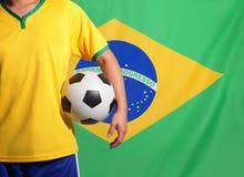 Brasilien och fotboll Fotografering för Bildbyråer