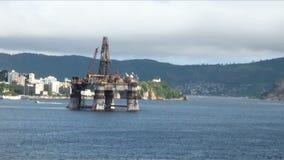 Brasilien - olje- Rig In Rio de Janeiro lager videofilmer