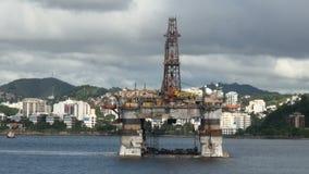 Brasilien - olje- Rig In Rio de Janeiro arkivfilmer