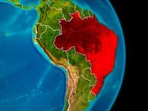 Brasilien på jord Royaltyfria Bilder