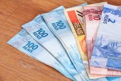 Brasilien pengar/reais Royaltyfri Foto