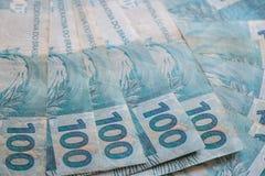 Brasilien pengar/reais Royaltyfri Fotografi