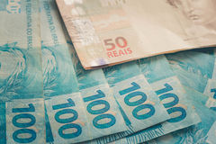 Brasilien pengar/reais Royaltyfri Bild