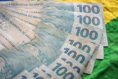 Brasilien pengar/reais Arkivfoton