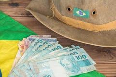 Brasilien pengar/reais/affärsidé Royaltyfria Foton