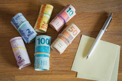 Brasilien pengar/reais/begreppet av hushållbudgeten Royaltyfri Bild