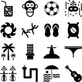 Brasilien-Piktogramme Stockbilder