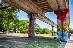 Brasilien Porto Alegre, 12 12 2015 - stads- arkitektur Royaltyfri Foto