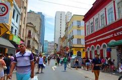 Brasilien Porto Alegre, 12 12 2015 - stads- arkitektur Fotografering för Bildbyråer
