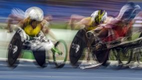 Brasilien - Rio De Janeiro - Paralympic lek 2016 1500 meter friidrott Arkivfoton