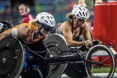 Brasilien- - Rio De Janeiro- - Paralympic-Spiel 2016 1500-Meter-Leichtathletik Lizenzfreie Stockfotografie