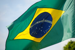 Brasilien-` s Flagge Lizenzfreie Stockfotos