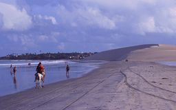 Brasilien: Sanddunesen av Jericoacoara i Céara arkivfoton