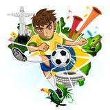 BRASILIEN-SCHALE Stockbild