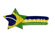 Brasilien självständighetsdagendesign Arkivbild