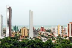 Brasilien-Skyline an einem regnerischen Tag Stockfotografie