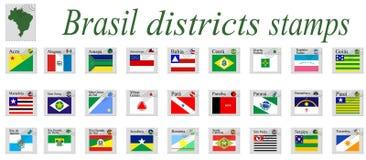 Brasilien stämplar vektor illustrationer