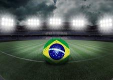 Brasilien stadion Arkivfoto